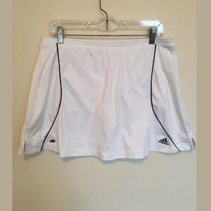 adidas Skirts - ADIDAS CLIMALITE Tennis Skirt White/Blk Large (p)